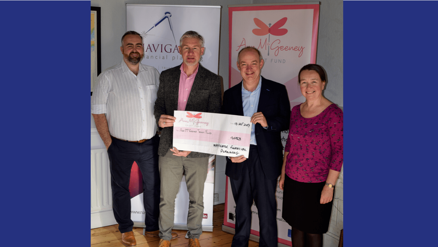 Navigator Financial Planning celebrate 15th Birthday with a donation to the local community